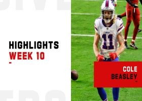 Every catch from Cole Beasley's 109-yard game | Week 10