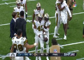 Prescott's Hail Mary attempt gets picked off to seal Saints' win