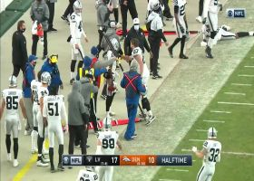 Broncos 70-yard field-goal attempt blocked to end half