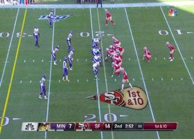 Eric Kendricks drifts under Jimmy G's throw for key INT
