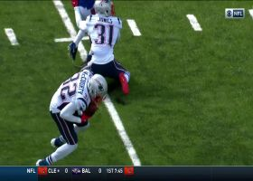 Devin McCourty elevates to pick off Josh Allen's deep ball