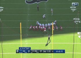 Rodrigo Blankenship drills 42-yard field goal near end of first half