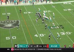 DeVante Parker makes sliding 15-yard grab at Raiders' midfield logo