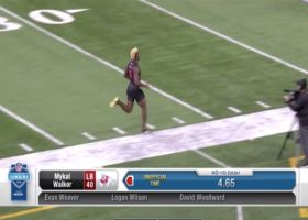 Mykal Walker runs official 4.65 second 40-yard dash at 2020 combine
