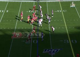 Vic Beasley SWALLOWS Jimmy Garoppolo for sack