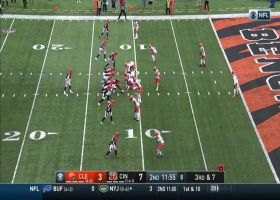 Browns defenders get to Joe Burrow for 8-yard red-zone  sack