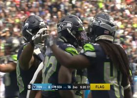 Chris Carson plows ahead for his first TD of 2021
