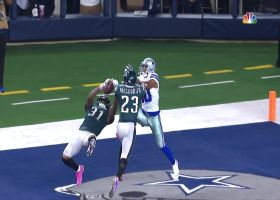 Get up! Jalen Mills leaps for end-zone interception