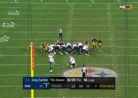 Greg Zuerlein's 56-yard FG try before half misses wide left