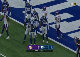 T.J. Carrie picks off Cousins to end the half