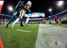Xavien Howard looks like WR adjusting for INT to ice the game