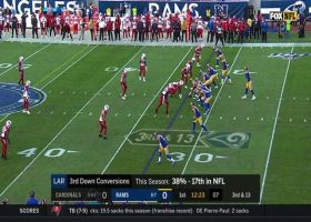 Goff delivers a 14-yard third down strike to Brandin Cooks to move the chains