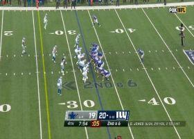 Donovan Wilson blasts through untouched for huge sack