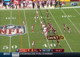 Terry McLaurin leaps to pick up 25 yards on deep slant route