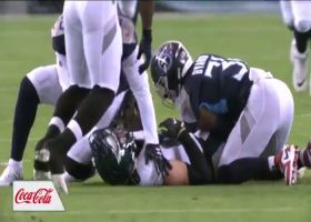Nate Sudfeld finds wide-open Dallas Goedert for 24 yards