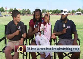 Washington Redskins cornerback Josh Norman brings his daughter for 'Inside Training Camp' interview