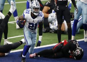 Zeke hammers through Falcons' front-seven for physical TD