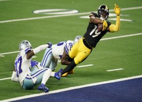 JuJu Smith-Schuster channels T.O. celebrating physical TD in Dallas
