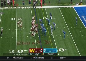 Lions swarm J.D. McKissic for massive tackle for loss