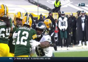 Javon Hargrave absolutely ambushes Rodgers for sack