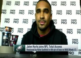 Jalen Hurts discusses his relationships with Carson Wentz, Nick Sirianni