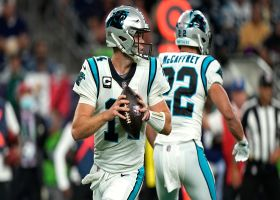 Darnold rips 30-yard laser to Tremble to put Panthers in the red zone