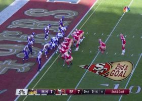 Kyle Juszczyk's block springs Tevin Coleman's barreling TD