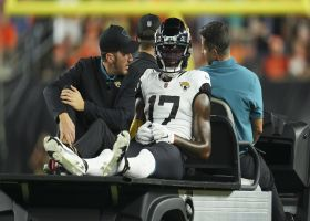 D.J. Chark is carted off field with leg injury