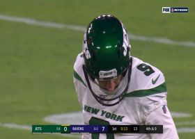 Patrick Ricard gets a piece of Ficken's field goal to force miss