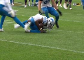 Tip-drill INT! Oruwariye lays out to pick off Fields' deflected pass