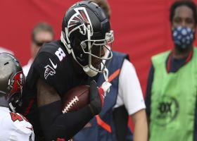 Kyle Pitts shows off hands on twisting 24-yard catch and run