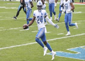 Amani Oruwariye's leaping end-zone INT ends Panthers' drive