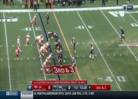 Garoppolo jukes and jives to gain first down on ground