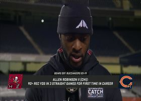 Allen Robinson describes difference in QB play between Foles and Trubisky