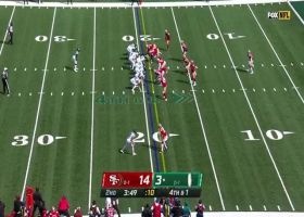 49ers D stuffs Josh Adams for turn over on downs