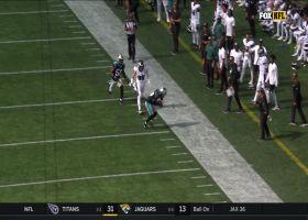 Donte Jackson looks like WR on toe-tapping interception
