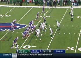Jets get to Matt Barkley for early second-half strip-sack