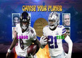 Lamar Jackson vs. Ezekiel Elliott: Who finishes '21 season with more rushing yards?