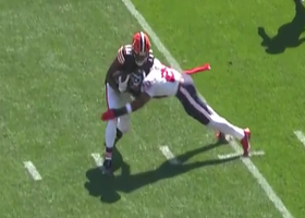 Christian Kirksey scoops up popcorn fumble after Justin Reid's nice hit
