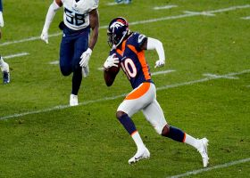 Jerry Jeudy's first career catch gives Broncos a first down