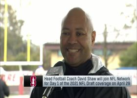 Stanford HC David Shaw evaluates his players' pro day workouts