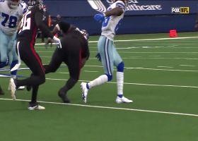 Grady Jarrett falls on Ezekiel Elliott's bobbling fumble