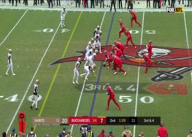 Winston channels Mahomes on INSANE left-handed pass for first down