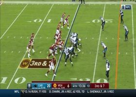 Robert Foster scurries down sideline for 28-yard pickup