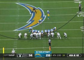 Chargers dial up tricky pooch punt to pin Raiders at own 10-yard line