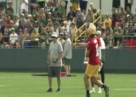 First look: Aaron Rodgers throwing darts at Packers training camp