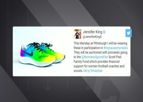 Pioli reacts to Jennifer King's My Cause My Cleats sneakers honoring his foundation