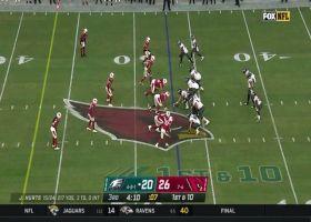 Zach Allen flies through the line for 14-yard sack