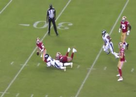 Josh Sweat pushes past Trent Williams for HUGE sack