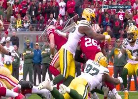 Za'Darius Smith splits George Kittle, Kyle Juszczyk for third-down tackle